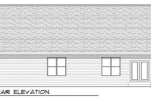 Craftsman Exterior - Rear Elevation Plan #70-915