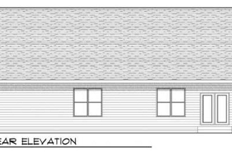 Craftsman Exterior - Rear Elevation Plan #70-915 - Houseplans.com