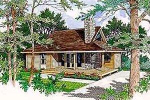 Cabin Exterior - Front Elevation Plan #116-106