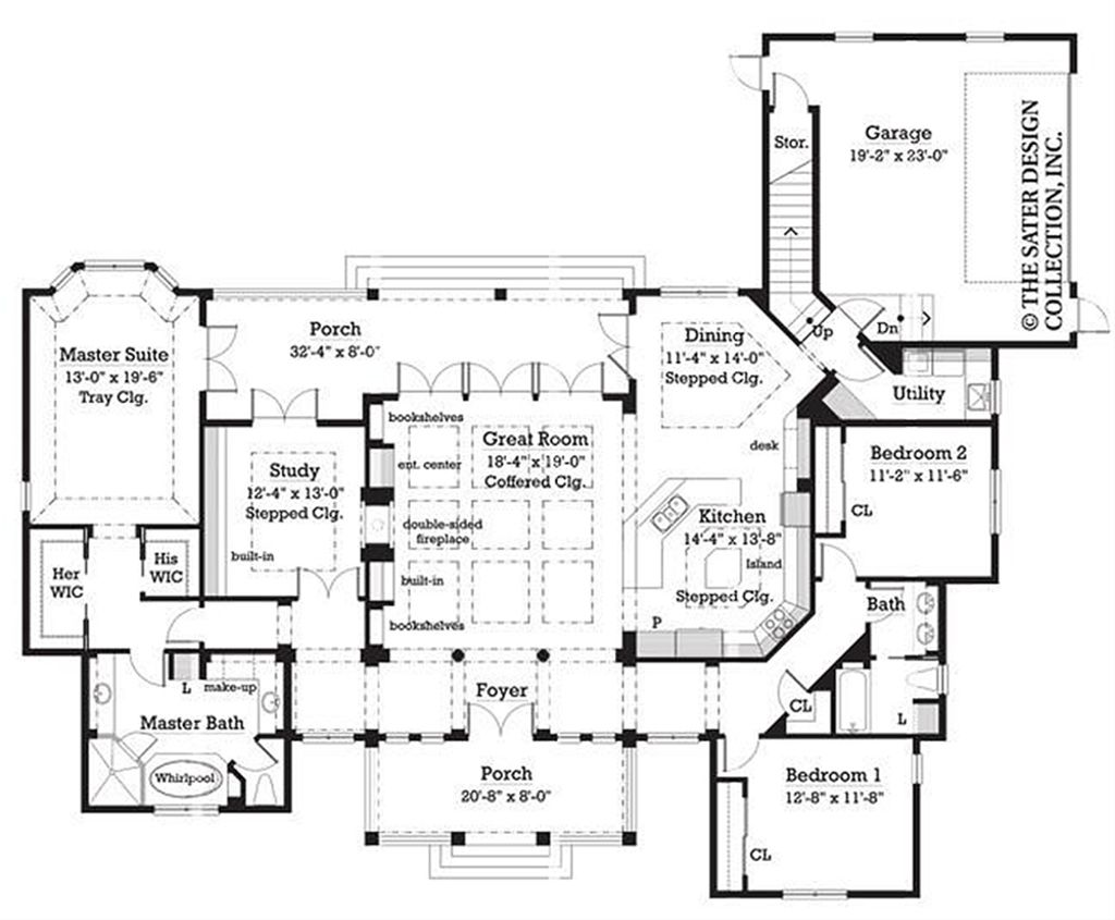 Ranch Style House Plan - 3 Beds 2 Baths 2454 Sq/Ft Plan #930-244 on double colonial house, double duplex, double outhouse, double modern house, double loft house, double log house, double cape house, double chalet house,