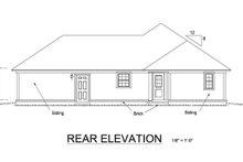 House Plan Design - Cottage Exterior - Rear Elevation Plan #513-2044
