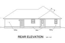 Home Plan - Cottage Exterior - Rear Elevation Plan #513-2044