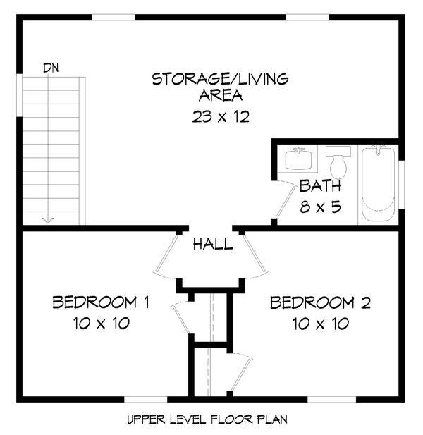 Dream House Plan - Traditional Floor Plan - Upper Floor Plan #932-335