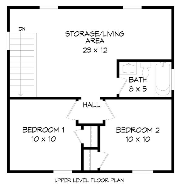 Dream House Plan - Traditional Floor Plan - Upper Floor Plan #932-335