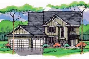 House Blueprint - Colonial Exterior - Front Elevation Plan #51-1000