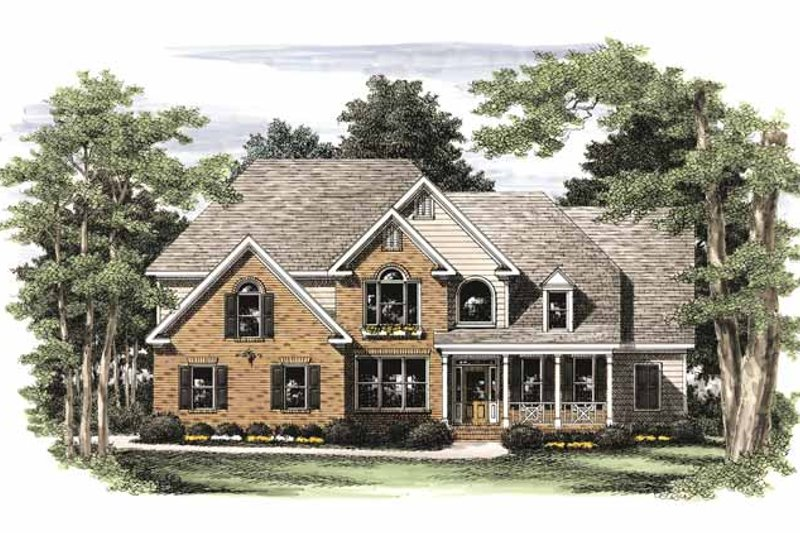 Traditional Exterior - Front Elevation Plan #927-716 - Houseplans.com
