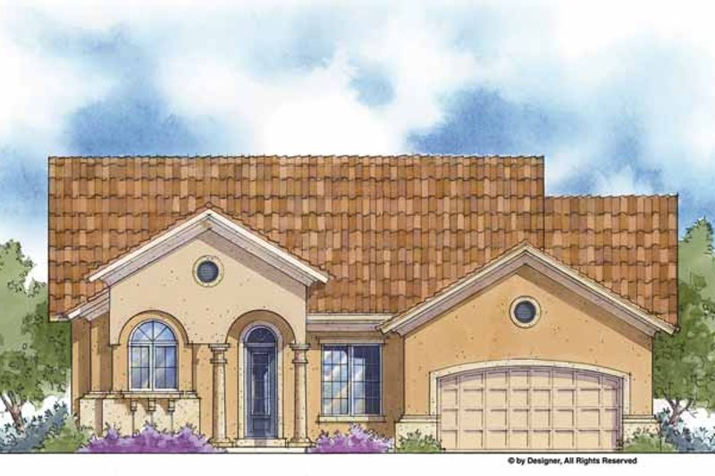 Mediterranean Exterior - Front Elevation Plan #938-60