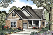 House Plan Design - Bungalow Exterior - Front Elevation Plan #17-3015