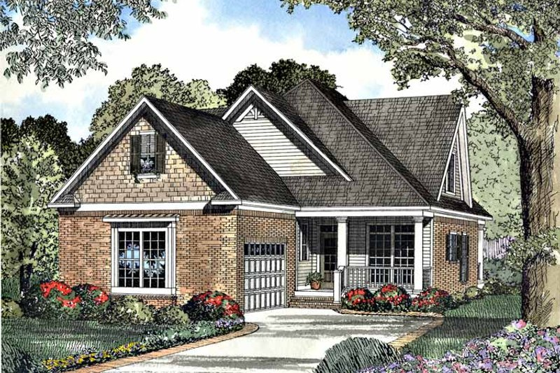 Bungalow Exterior - Front Elevation Plan #17-3015