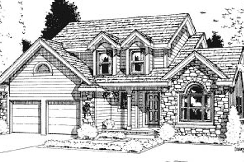 Traditional Exterior - Front Elevation Plan #20-623 - Houseplans.com