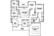 Southern Style House Plan - 5 Beds 3 Baths 2740 Sq/Ft Plan #63-164 Floor Plan - Main Floor Plan