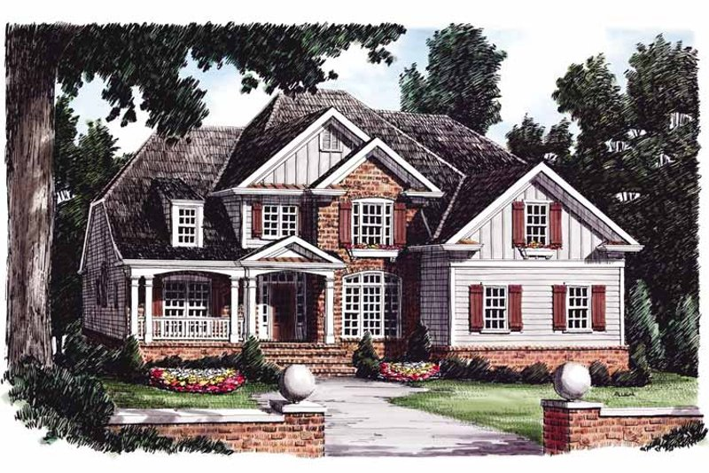 Traditional Exterior - Front Elevation Plan #927-761 - Houseplans.com