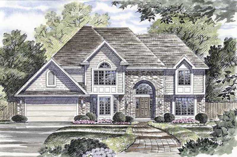 Traditional Exterior - Front Elevation Plan #316-149 - Houseplans.com