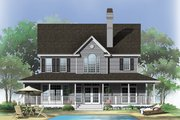 Farmhouse Style House Plan - 4 Beds 3.5 Baths 2182 Sq/Ft Plan #929-167 Exterior - Rear Elevation