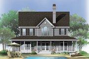 Farmhouse Style House Plan - 4 Beds 3.5 Baths 2182 Sq/Ft Plan #929-167 Exterior - Rear Elevation