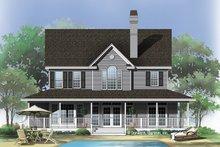 Farmhouse Exterior - Rear Elevation Plan #929-167