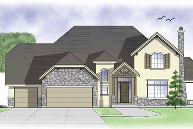 Country Exterior - Front Elevation Plan #945-41
