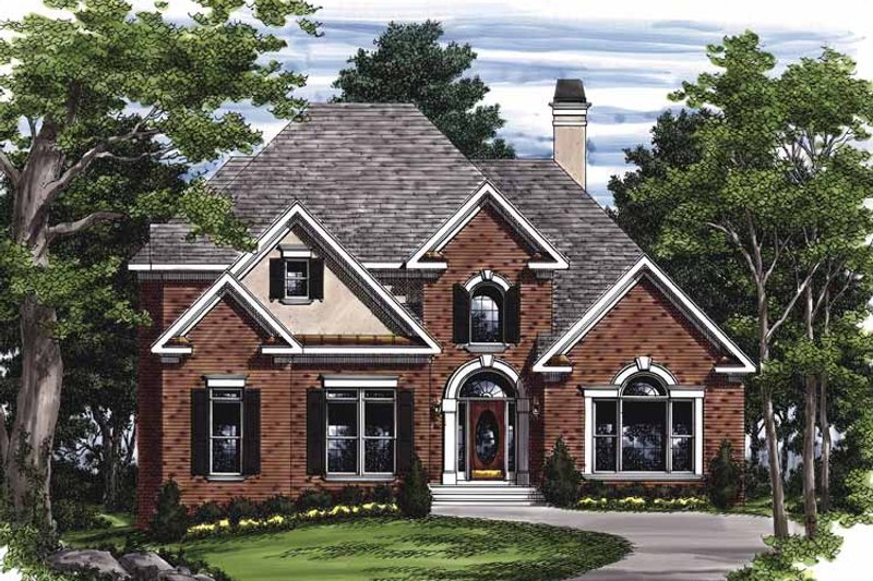 Traditional Exterior - Front Elevation Plan #927-452 - Houseplans.com