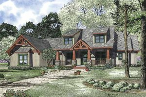 Architectural House Design - Craftsman Exterior - Front Elevation Plan #17-3314