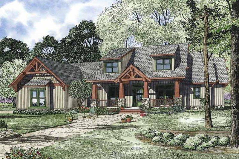 Architectural House Design - Craftsman Exterior - Front Elevation Plan #17-3314