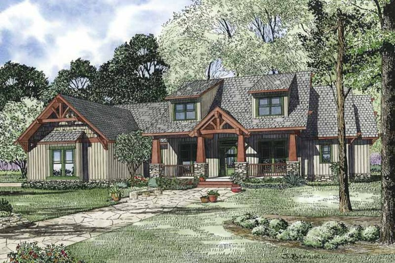 Craftsman Exterior - Front Elevation Plan #17-3314