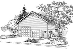 House Plan Design - Traditional Exterior - Front Elevation Plan #124-662