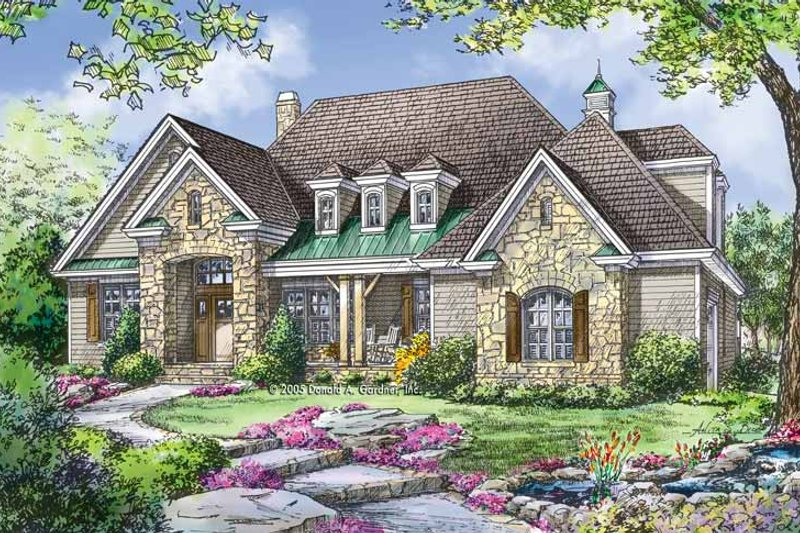 Craftsman Exterior - Front Elevation Plan #929-780