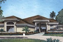 Architectural House Design - Mediterranean Exterior - Front Elevation Plan #417-477