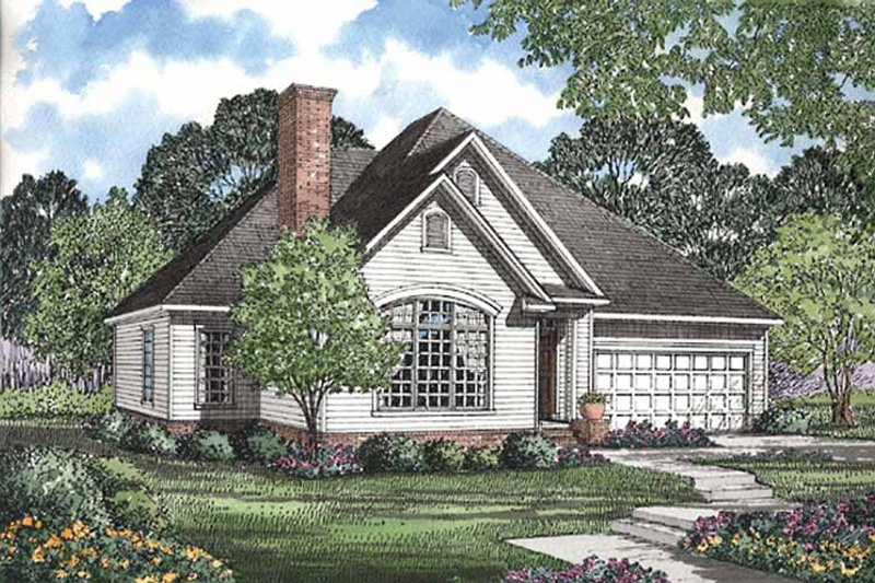 Dream House Plan - Ranch Exterior - Front Elevation Plan #17-2951