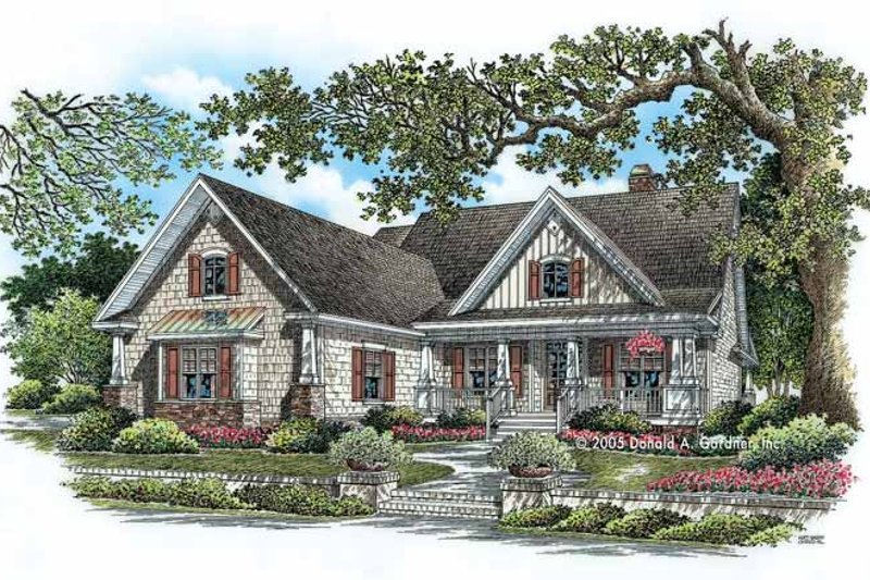 Country Exterior - Front Elevation Plan #929-776
