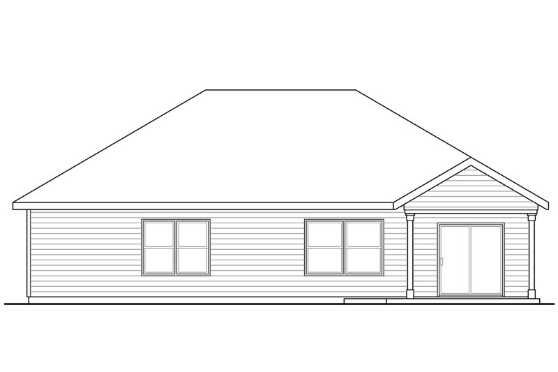 Ranch Exterior - Rear Elevation Plan #124-939 - Houseplans.com