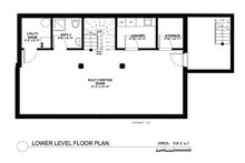 Contemporary Floor Plan - Lower Floor Plan Plan #535-26
