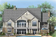 Craftsman Exterior - Rear Elevation Plan #929-861