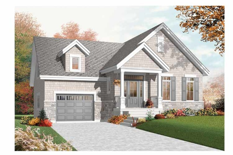 Bungalow Exterior - Front Elevation Plan #23-2434 - Houseplans.com