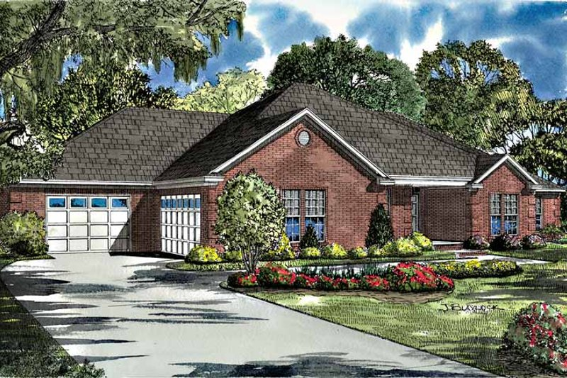Traditional Exterior - Front Elevation Plan #17-2955