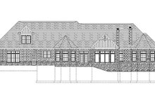 House Plan Design - Craftsman Exterior - Rear Elevation Plan #1057-1