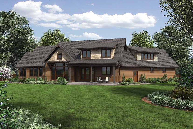 Craftsman Exterior - Rear Elevation Plan #48-921 - Houseplans.com
