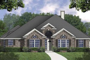 Traditional Exterior - Front Elevation Plan #40-473