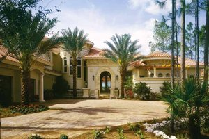 Home Plan - Mediterranean Exterior - Front Elevation Plan #930-54