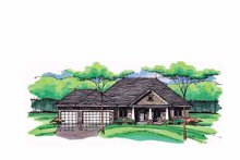 Home Plan - European Exterior - Front Elevation Plan #51-990