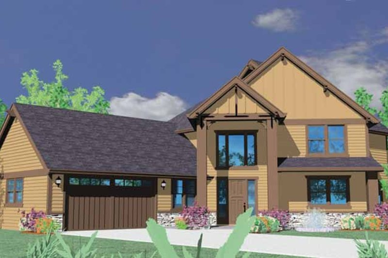 Craftsman Exterior - Front Elevation Plan #509-345