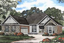 Country Exterior - Front Elevation Plan #17-3167