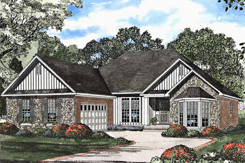 Country Exterior - Front Elevation Plan #17-3167 - Houseplans.com