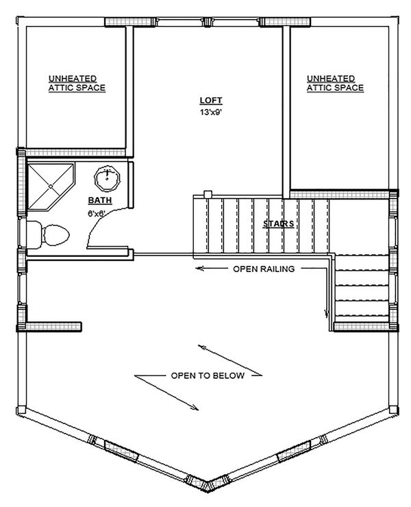 Home Plan - Traditional Floor Plan - Upper Floor Plan #895-115