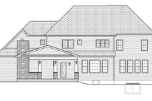 Colonial Exterior - Rear Elevation Plan #1010-176