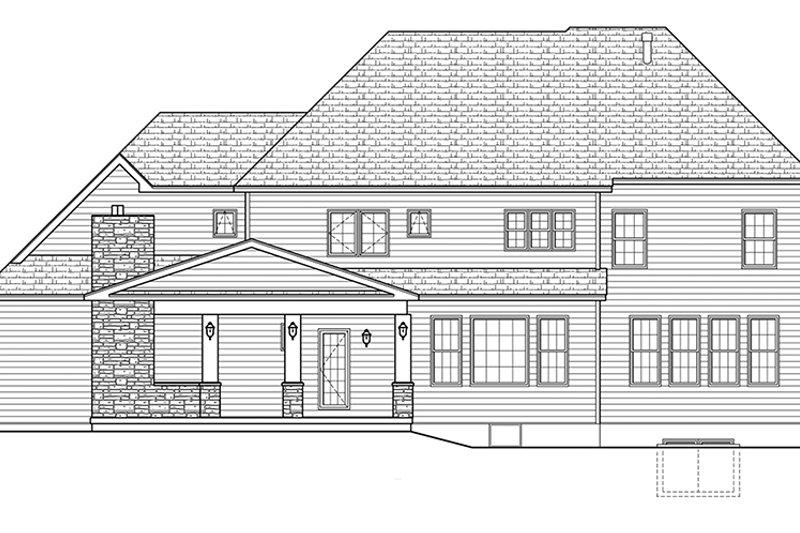 Colonial Exterior - Rear Elevation Plan #1010-176 - Houseplans.com