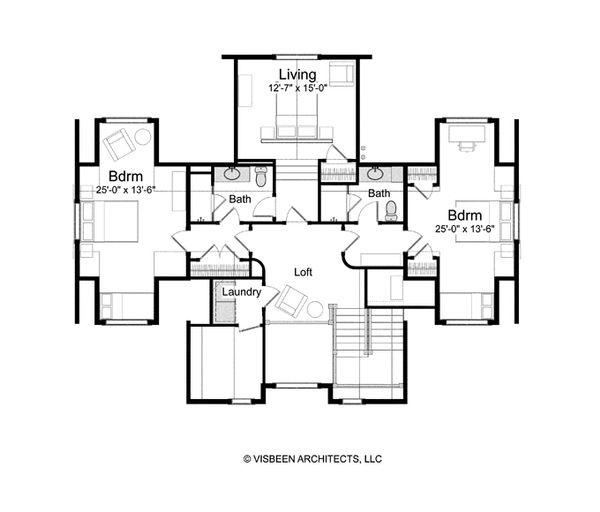 Traditional Floor Plan - Upper Floor Plan #928-262