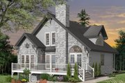 Cottage Style House Plan - 3 Beds 2 Baths 1625 Sq/Ft Plan #23-760 Exterior - Front Elevation