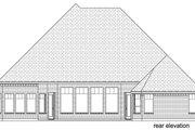 European Style House Plan - 4 Beds 3 Baths 3340 Sq/Ft Plan #84-600 Exterior - Rear Elevation