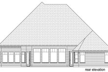 European Exterior - Rear Elevation Plan #84-600